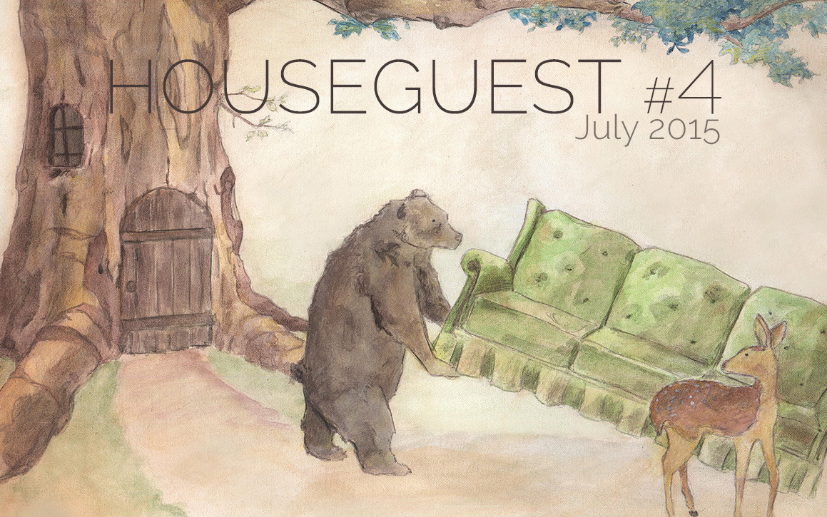 Bear Helps Deer Move an Old Sofa by Tim Frisch, Houseguest Issue #4