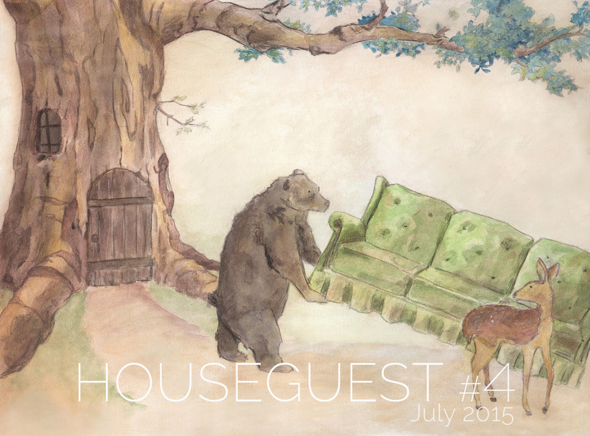Tim Frisch Bear Helps Deer Move an Old Sofa, Houseguest Issue #4