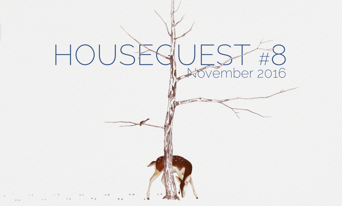Deer Playing Hide n Seek with Sparrow by Tim Frisch, Houseguest Issue #8 November 2016